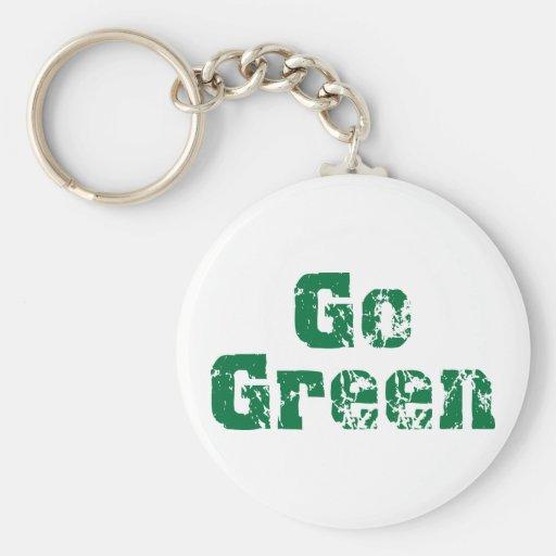 Go Green dis Keychains