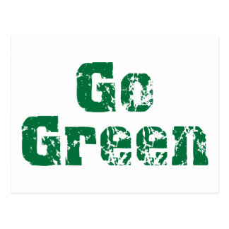 Go Green dis Post Cards