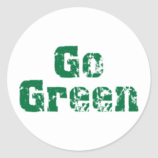 Go Green dis Classic Round Sticker