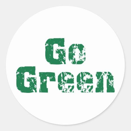 Go Green dis Stickers