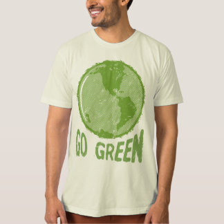 Go Green: Distressed Planet Earth! Save the World! Tee Shirt