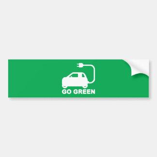 Go Green ~ Drive Electric Cars Bumper Sticker