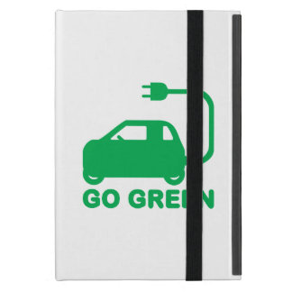 Go Green ~ Drive Electric Cars Cover For iPad Mini