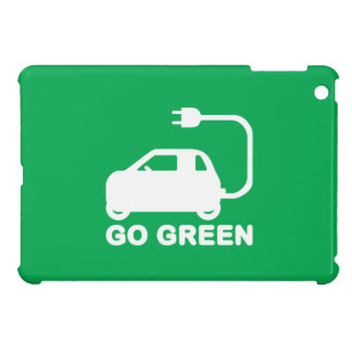 Go Green ~ Drive Electric Cars Cover For The iPad Mini