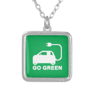 Go Green ~ Drive Electric Cars Custom Necklace