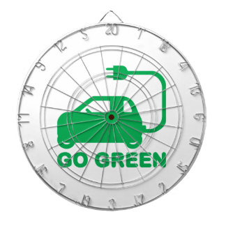 Go Green ~ Drive Electric Cars Dart Boards