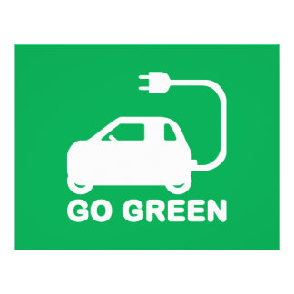 Go Green ~ Drive Electric Cars Flyer