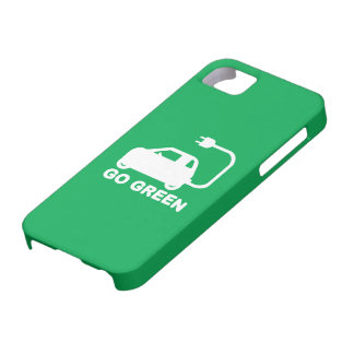 Go Green ~ Drive Electric Cars iPhone 5 Cover