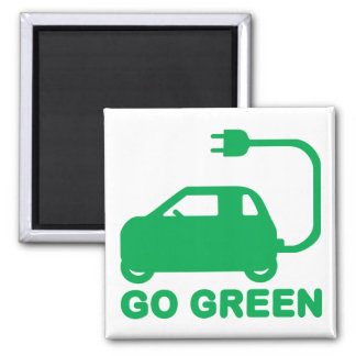 Go Green ~ Drive Electric Cars Magnet