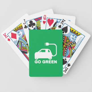 Go Green ~ Drive Electric Cars Bicycle Card Decks