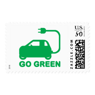 Go Green ~ Drive Electric Cars Postage
