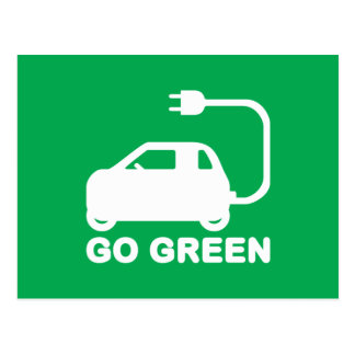 Go Green ~ Drive Electric Cars Postcard