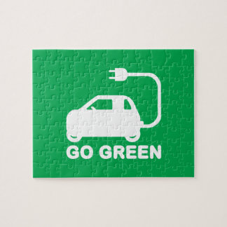 Go Green ~ Drive Electric Cars Jigsaw Puzzles