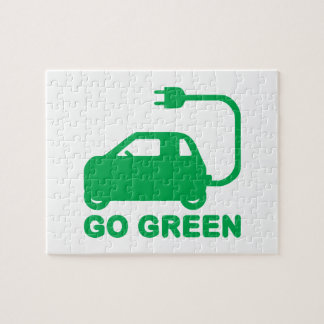 Go Green ~ Drive Electric Cars Jigsaw Puzzle
