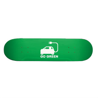 Go Green ~ Drive Electric Cars Skateboard Deck