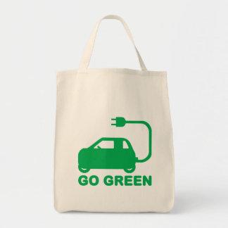 Go Green ~ Drive Electric Cars Tote Bag