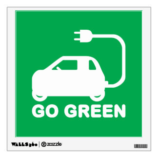 Go Green ~ Drive Electric Cars Wall Decal