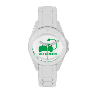 Go Green ~ Drive Electric Cars Watches