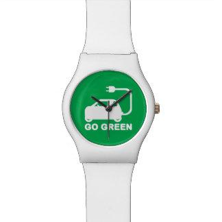 Go Green ~ Drive Electric Cars Wristwatch