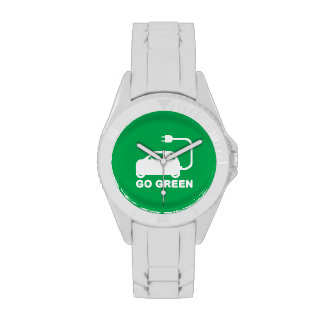 Go Green ~ Drive Electric Cars Wristwatches