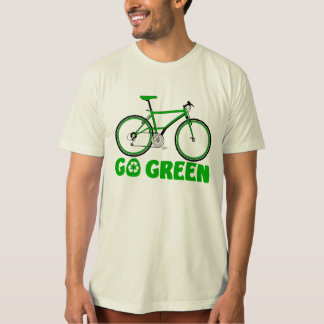 Go Green, Earth Day Bicycle design. T-Shirt