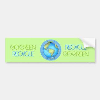 Go Green - Earth Day Bumper Sticker
