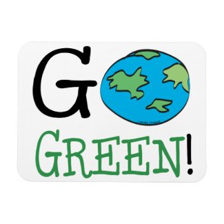 Go Green Earth Day Rectangular Magnets