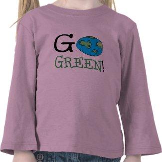 Go Green Earth Day Shirt