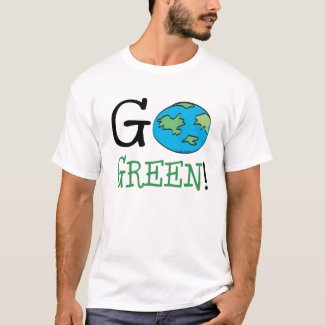 Go Green Earth Day T-Shirt
