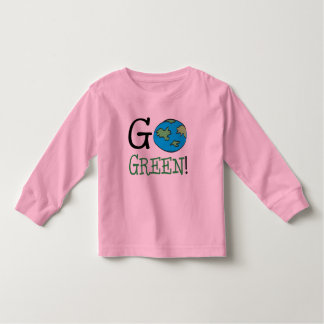 Go Green Earth Day Toddler T-shirt