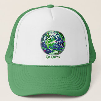 Go green earth green hat
