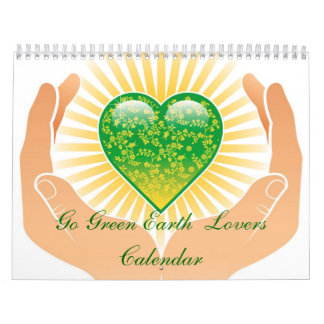 Go Green Earth  Lovers Calendar