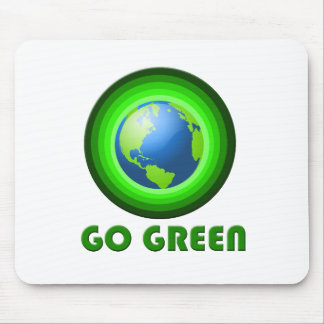 Go Green Earth Mouse Pad