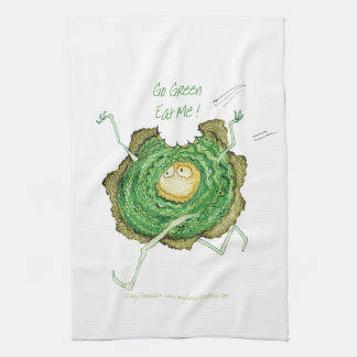 Go Green - Eat Me!, tony fernandes Hand Towel