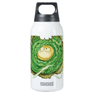 Go Green - Eat Me!, tony fernandes Insulated Water Bottle