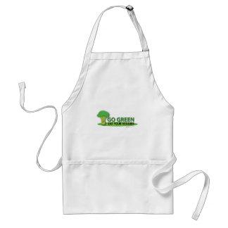 Go Green Eat Your Veggies Adult Apron