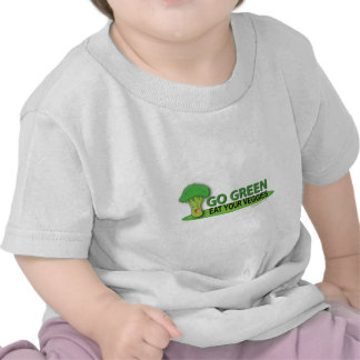 Go Green Eat Your Veggies Tee Shirt