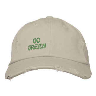 GO GREEN EMBROIDERED BASEBALL HAT