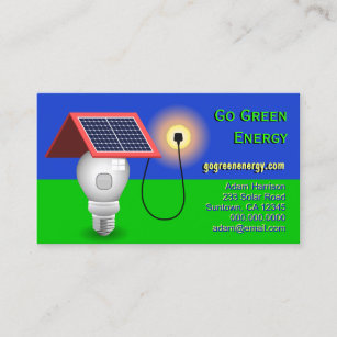 Go green business cards templates zazzle go green energy solar power business cards reheart Image collections