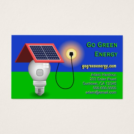 Go green energy solar power business cards zazzle go green energy solar power business cards colourmoves Image collections