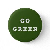 GO GREEN Environmental Button