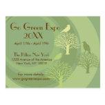Go Green Event Announcement Postcard
