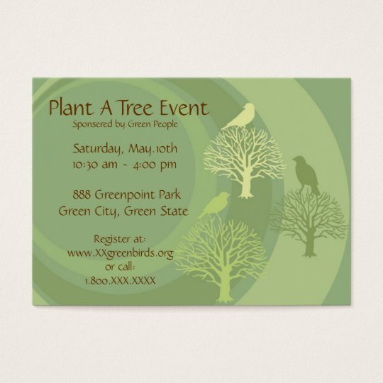 Go Green Event Promotion Cards