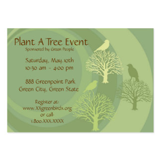 """""""Go Green"""" Event Promotion Cards Large Business Card"""