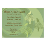 """""""Go Green"""" Event Promotion Cards Large Business Cards (Pack Of 100)"""