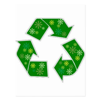 Go Green Flower Power Recycle Postcard
