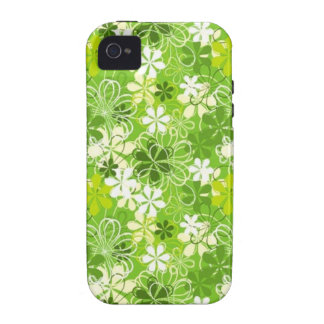 Go Green Flowers Case-Mate iPhone 4 Cases