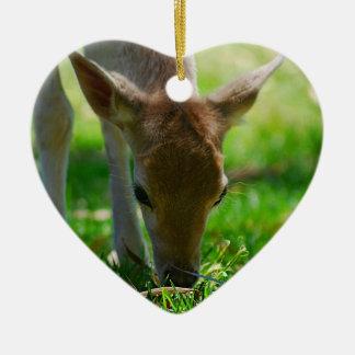 Go green for Deer Antelope Ceramic Ornament