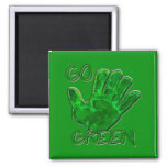 go green for Earth Refrigerator Magnet