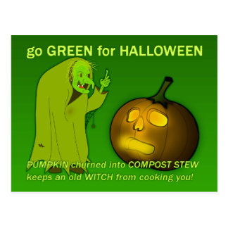 Go Green for Halloween Postcard
